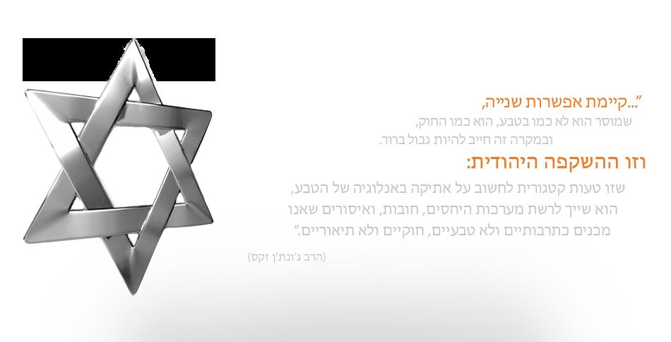 קיימת אפשרות שנייה, וזו ההשקפה היהודית מאת הרב יונתן זקס
